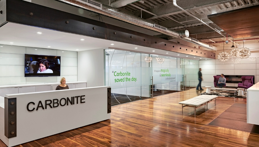 Carbonite moves into its new headquarters at Lafayette City Center in downtown Boston.