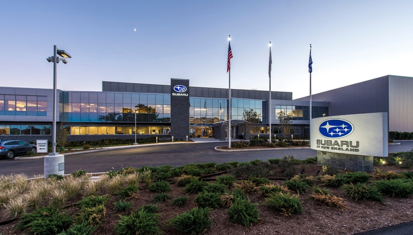 Columbia Construction Completes Subaru of New England's New Headquarters