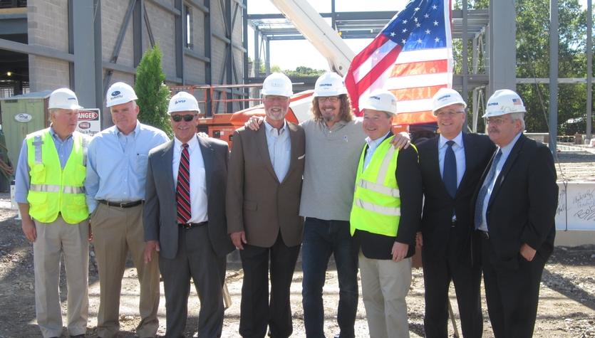 Columbia and Team Members Celebrate the Topping Off of NE Subaru's Headquarters in Norwood