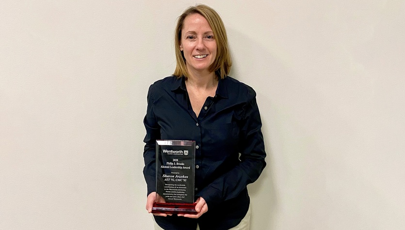 Sharon Jozokos Honored with Wentworth Institute of Technology's Philip J. Brooks Alumni Leadership Award