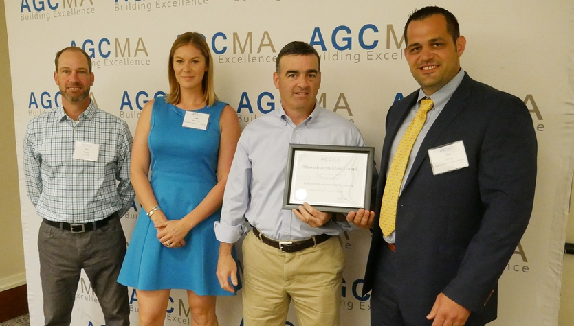 Columbia Construction Recognized at Boston Chapter AGC Safety Awards