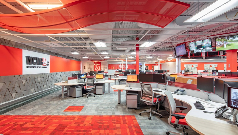 WCVB-TV 5 Newsroom Awarded 2019 AIA Central Massachusetts Merit Award for Excellence in Architecture