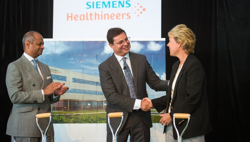 Columbia Breaks Ground on Siemens Healthineers Campus Expansion in Walpole